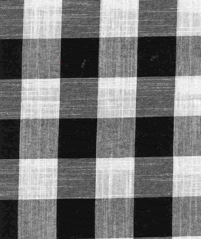 CHAM-PLD-721 / BLACK/IVORY / 100% Cotton CHAMBRAY PLAID