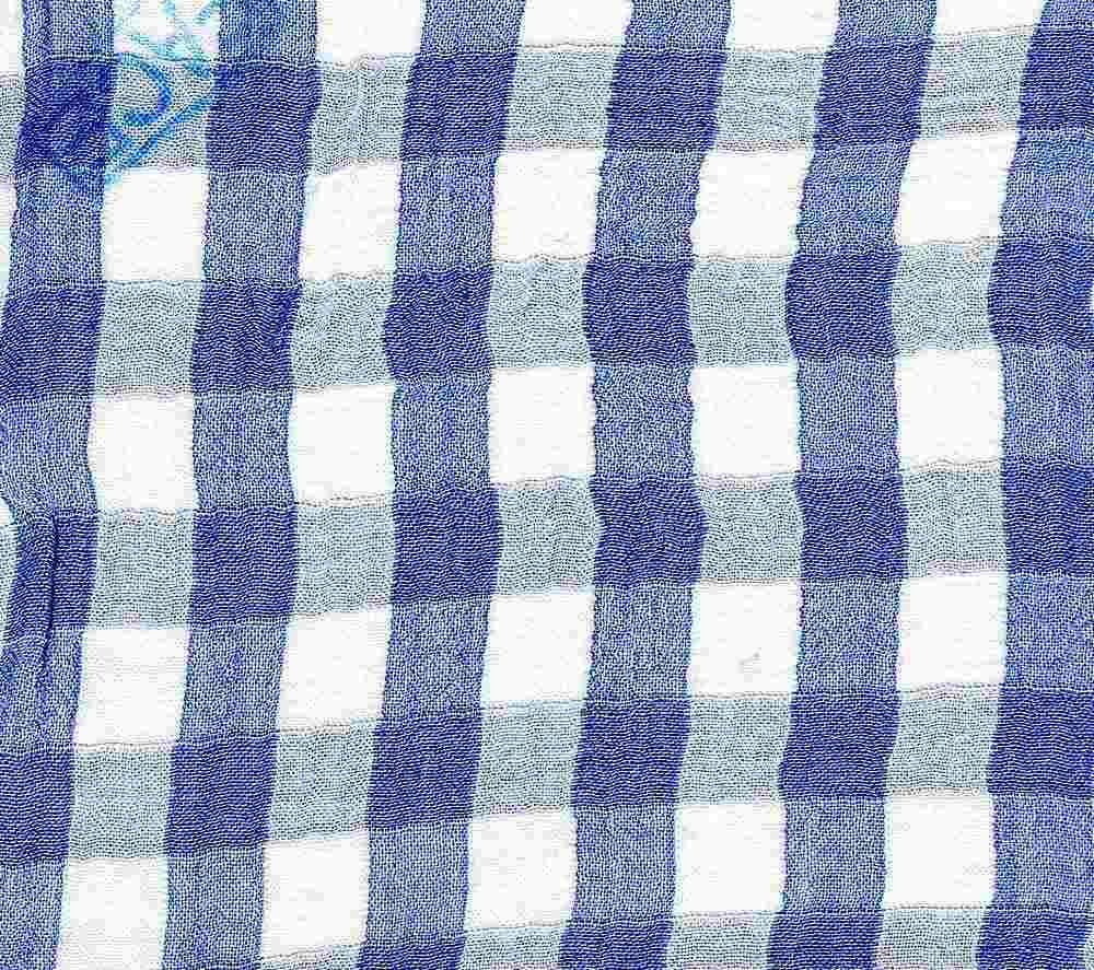 TEN-DBL-PLD-H / BLUE / DOUBLE CLOTH 53%RAYON/47%TENCEL