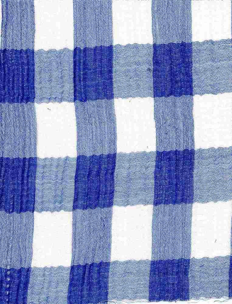 TEN-DBL-PLD-B / BLUE / DOUBLE CLOTH  53%RAYON/47%TENCEL