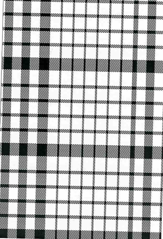 RYN-PLD-4362 / WHITE/BLACK / 100% Rayon