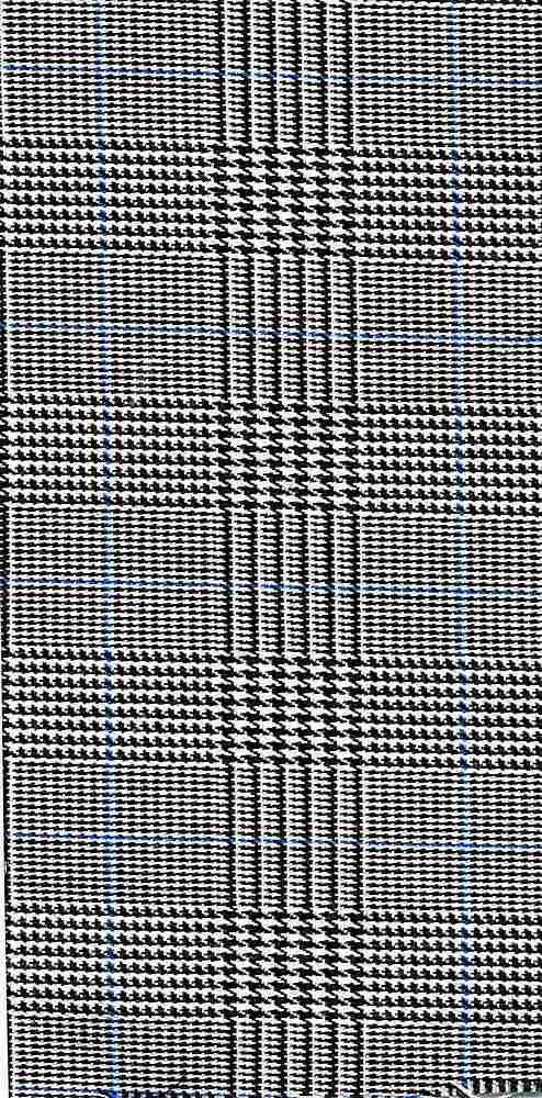 TR-PLD-1892 / GRAY/BLUE / POLY RAYON SPANDEX PLAID P/R/S 80/18/2