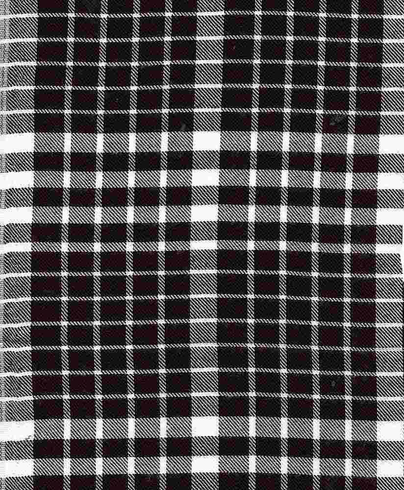 RYN-PLD-4362 / BLACK/WHITE / 100% Rayon