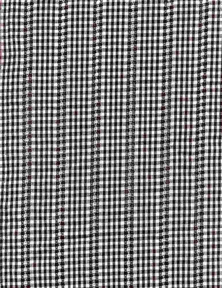 POP-DB-CHK-2805 / BLACK/WHITE / 100% COT.POPLIN DOBBY Y/D CHECK