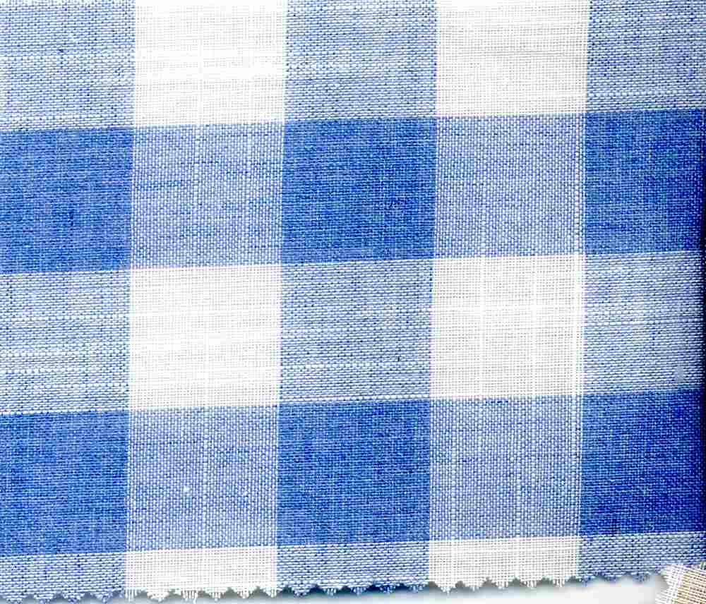 CHAM-P-PLD-963 / SKY/WHITE / CHAMBRAY PLAID, P/C 80/20