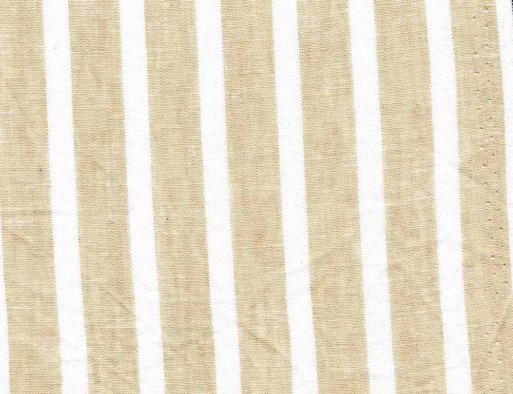LIN-C-STP-997 / NATURAL/WHITE / 55/45 LINEN COTTON Y/D STRIPE