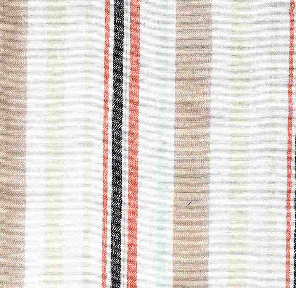 C-LIN-STP-2408 KHAKI/CORAL LINEN