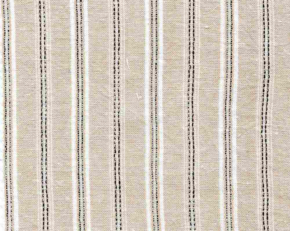 LIN-STP-6091 / NATURAL / COTTON LINEN Y/D STRIPE 70/30