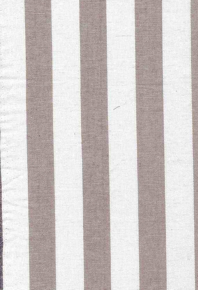 LIN-STP-6092 / GRAY/WHITE / COTTON LINEN STRIPE 70/30