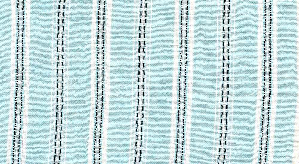 LIN-STP-6091 / AQUA / COTTON LINEN Y/D STRIPE 70/30