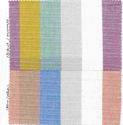 C-LIN-STP-2418 / BLUE/KHAKI / 100%COTTON,LINEN LOOK CHAMBRAY STRIPE