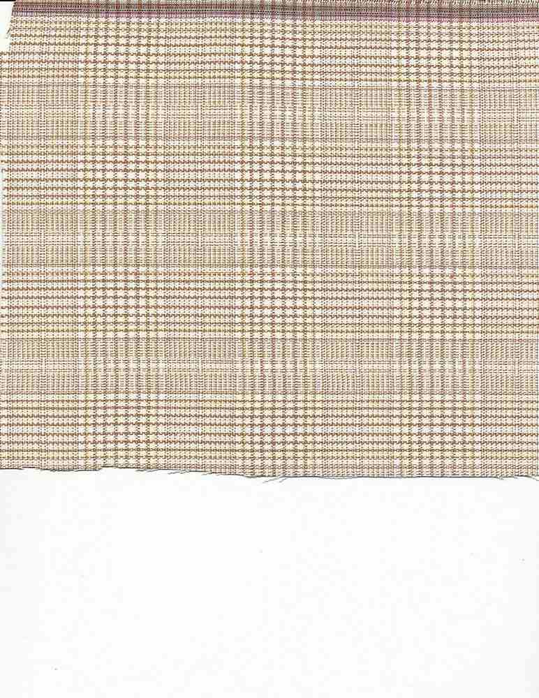 TR-PLD-1894-2 / BEIGE / COTTON SPANDEX BLAID C/S  97/3