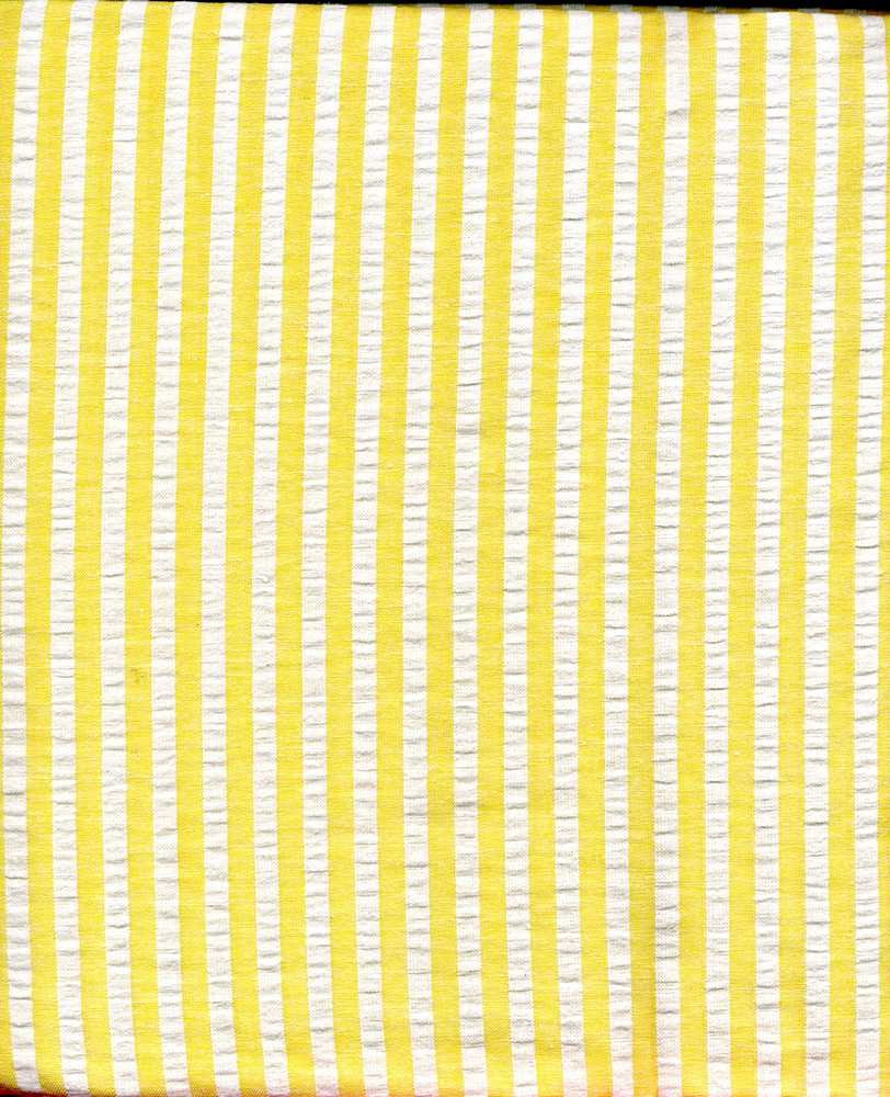 SEERS-STP-1/4 / YELLOW/IVORY / Cotton Spandex Seer Succer 98/2