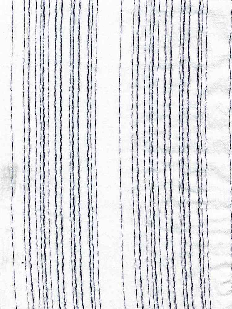 GUZ-STP-883 / WHITE/BLUE / STRIPE GAUZE 100% COTTON