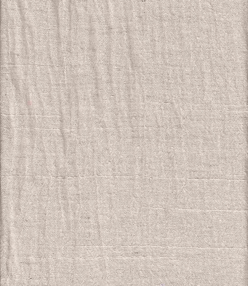 LIN-GUZ-2628 / NATURAL / LINEN GAUZE [LINEN/COTTON CRINKLED] 80%Cot/20%Lin