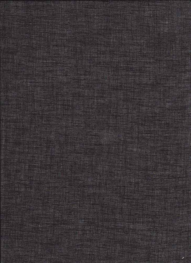VOILE / BLACK / 100% COTTON VOILE