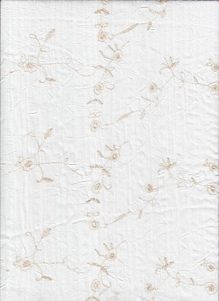 EMB-175 / IVORY / T/C VOILE W/EMBROIDERY 55%COT/45%POLY
