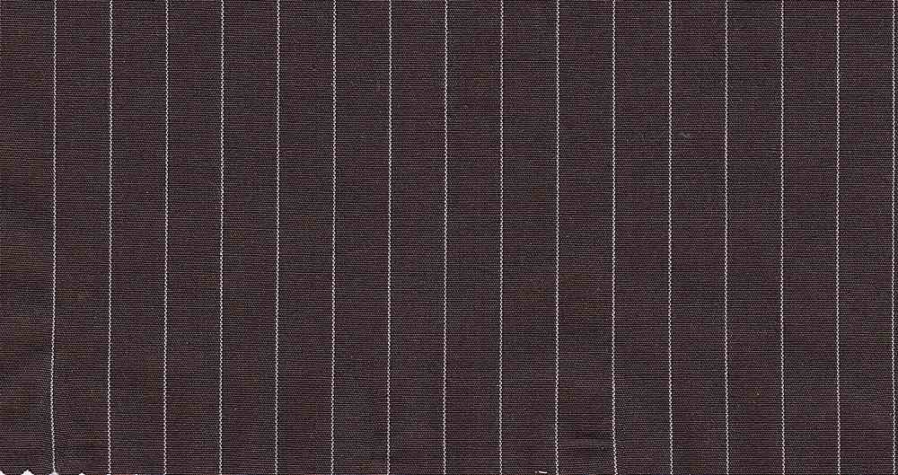 POPS-STP-1/4 / BROWN/WHITE / ST.POPLIN YARNDYED 1/4 STRIPE