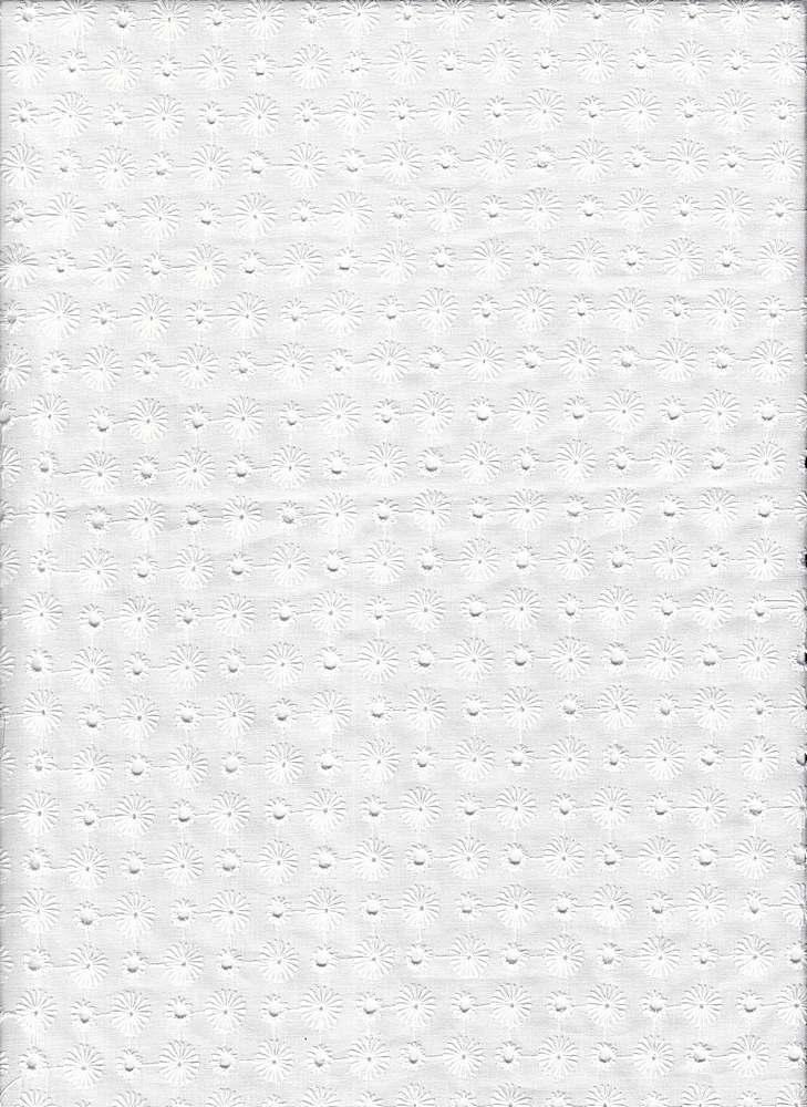 EMB-68 / WHITE / 100% Cotton Embroidery