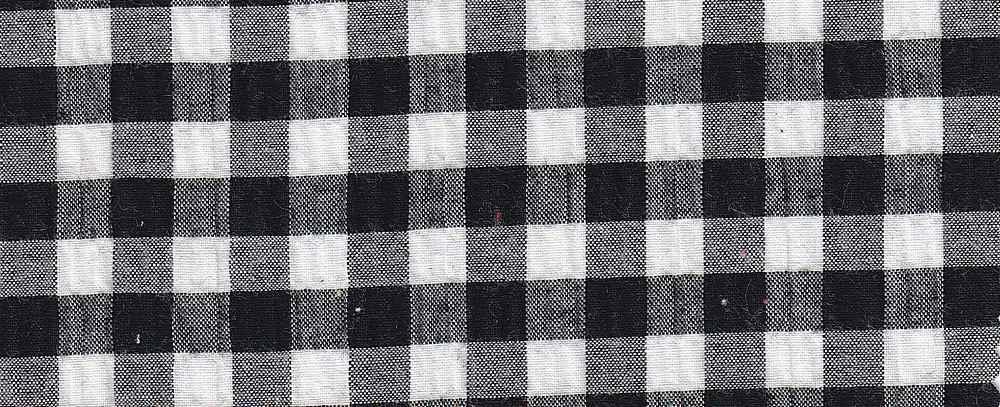SEERS-PLD-064 BLACK/WHITE SEERSUCKER PLAIDS