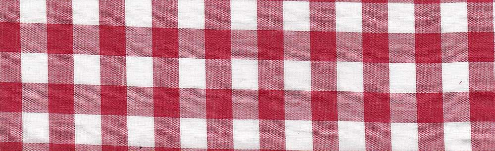 LWN-PLD-8-8 / RED / 100% COTTON LAWN PLAID