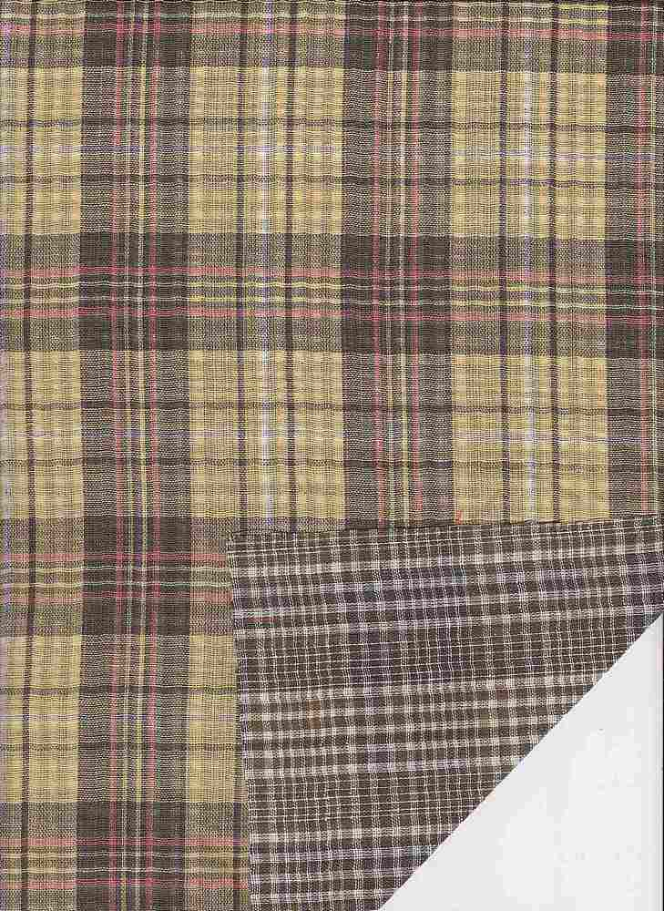 DBLF-PLD-93 / YELLOW / DBLE SIDED Y/D PLAID
