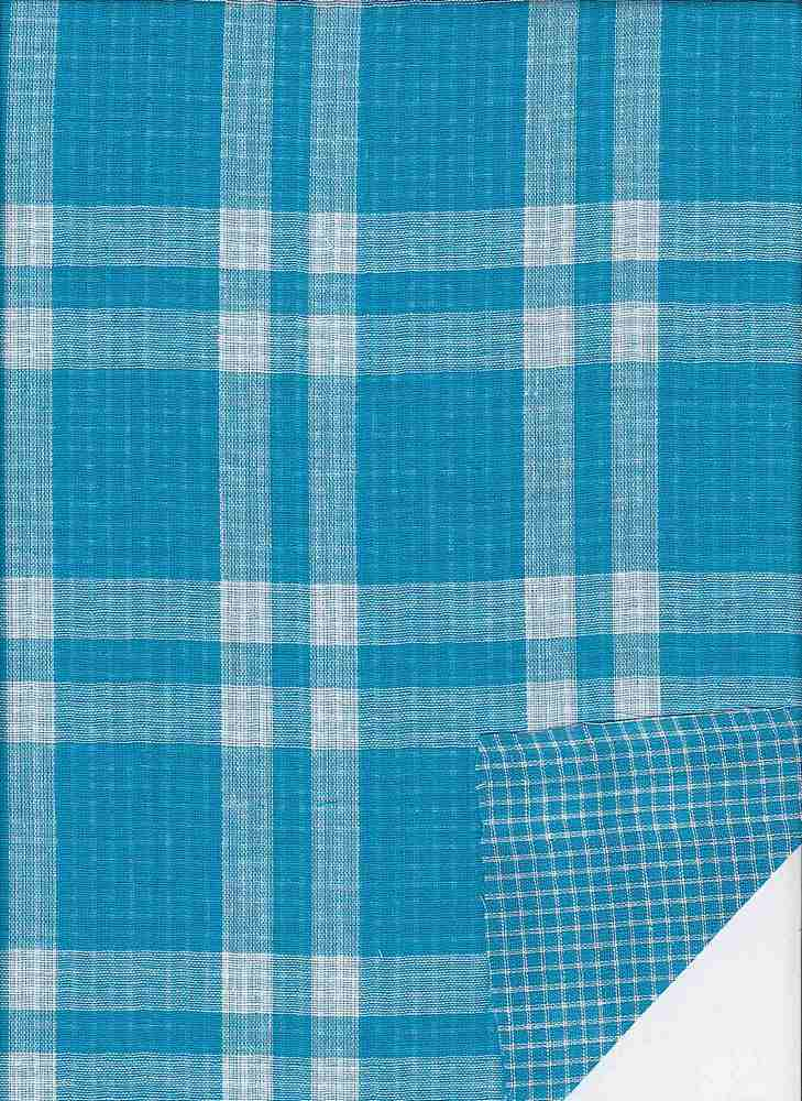 DBLF-PLD-97 / TURQUOISE / DBLE SIDED Y/D PLAID
