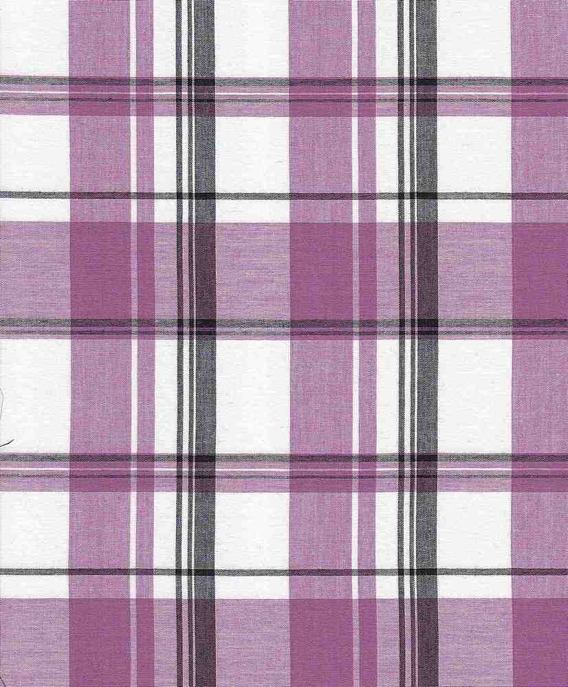 LWN-PLD-8-24 / PURPLE / 100% CTN LAWN YARNDYE PLAID