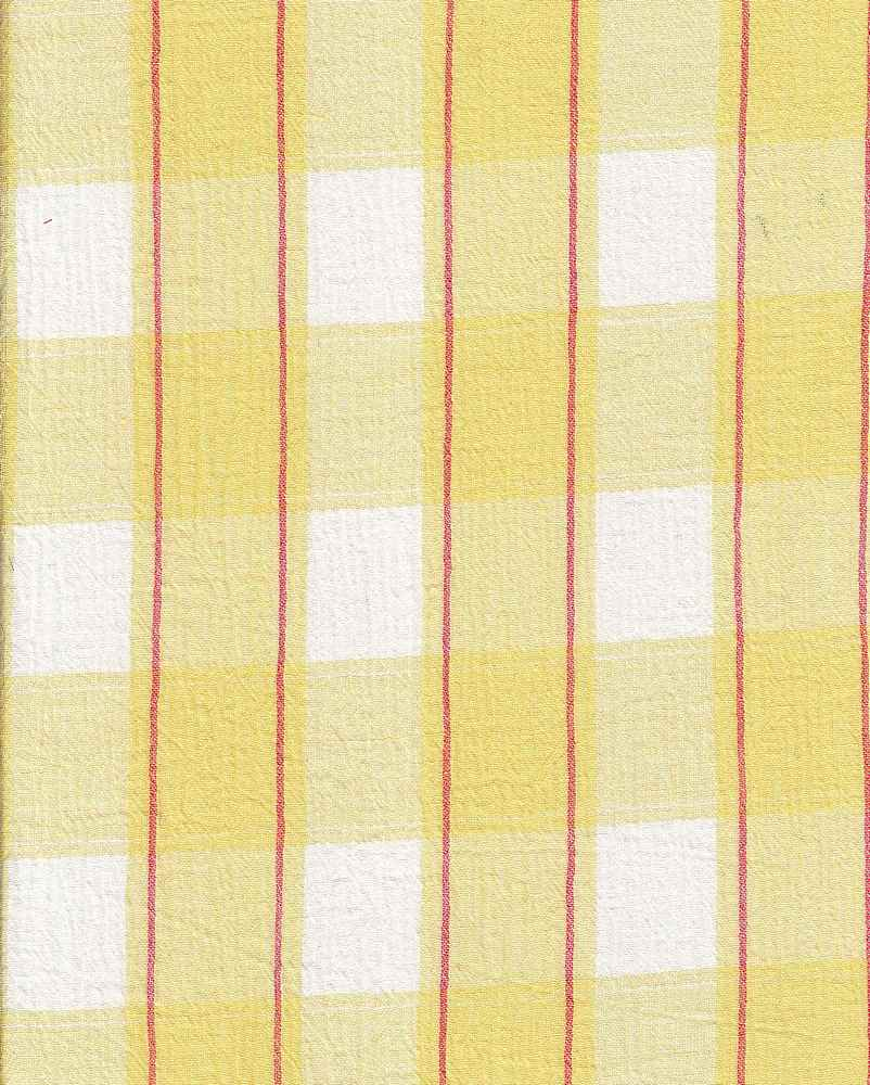GUZ-PLD-164 / YELLOW / 100%CTN PLAID GAUZE