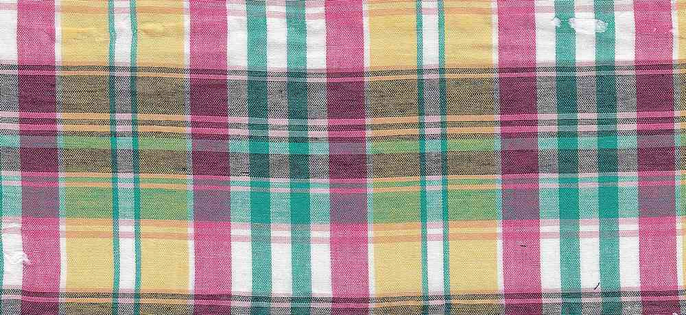 LWN-PLD-8-30 / FUCHSIA/YELLOW / 100%COT LAWN PLAID