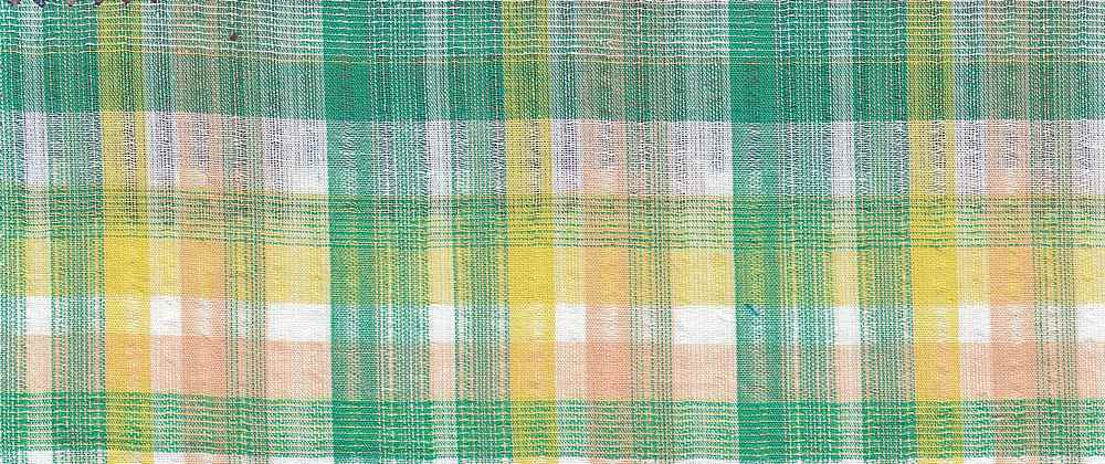 GUZ-PLD-9-18 / GREEN/YELLOW / 100%COTTON  GAUZ PLAID