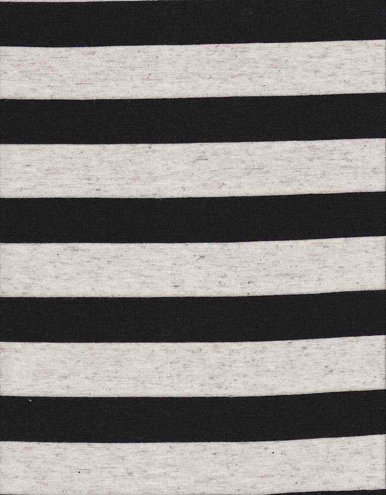 JER-PRL-STP-008 BLACK LINEN STRIPE JERSEY