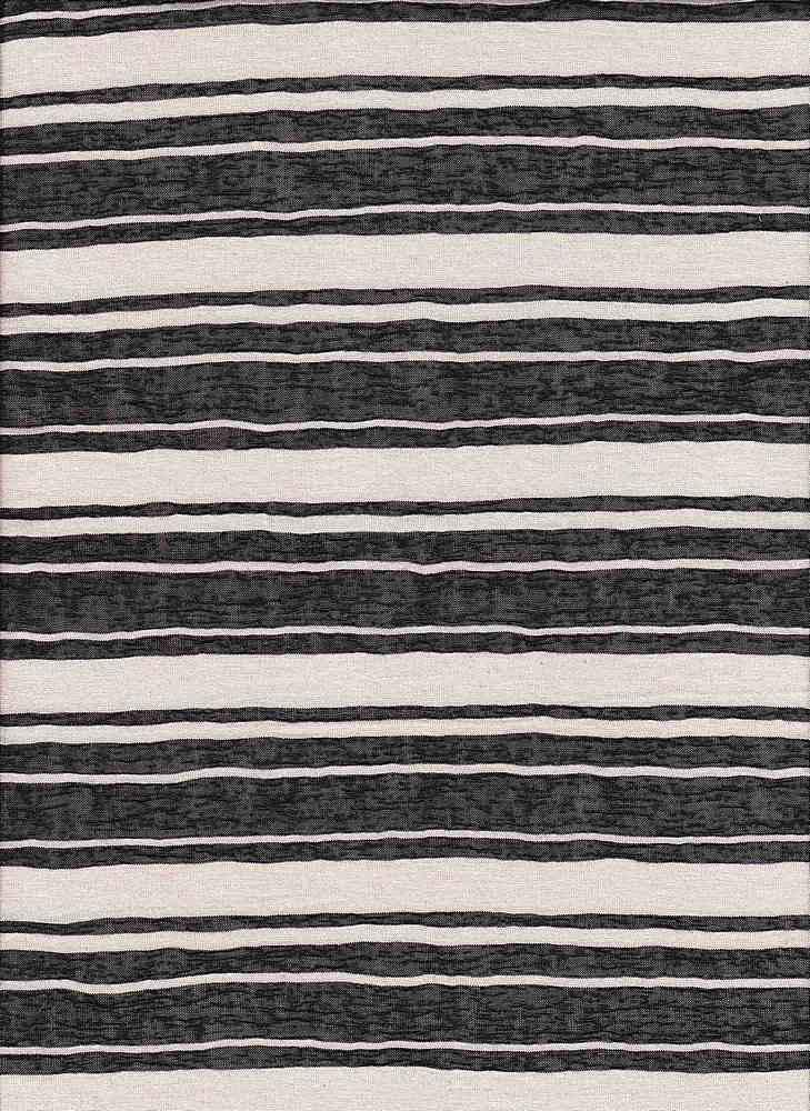 JER-PR-STP-8960 / BLACK/IVORY / 48/52-P/R SHEER STRIPE JERSEY