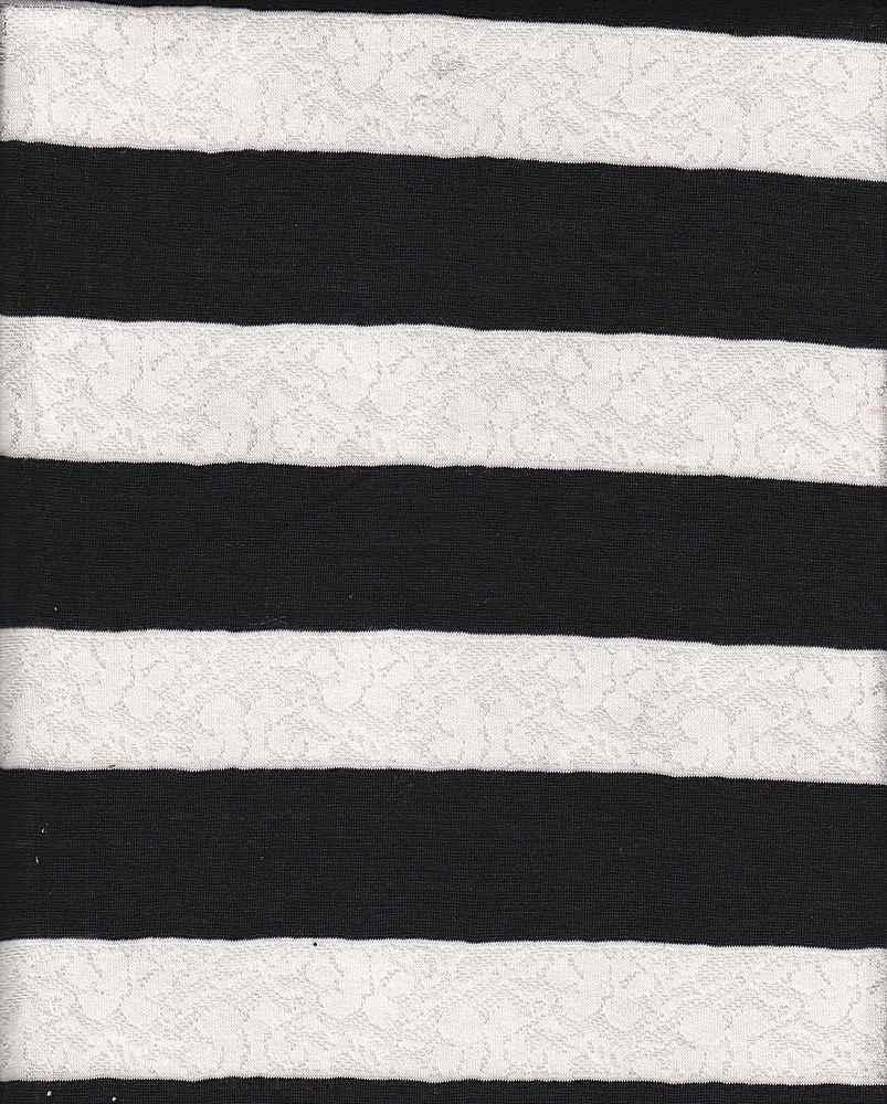 JER-LACE-STP-61 / WHITE/BLACK
