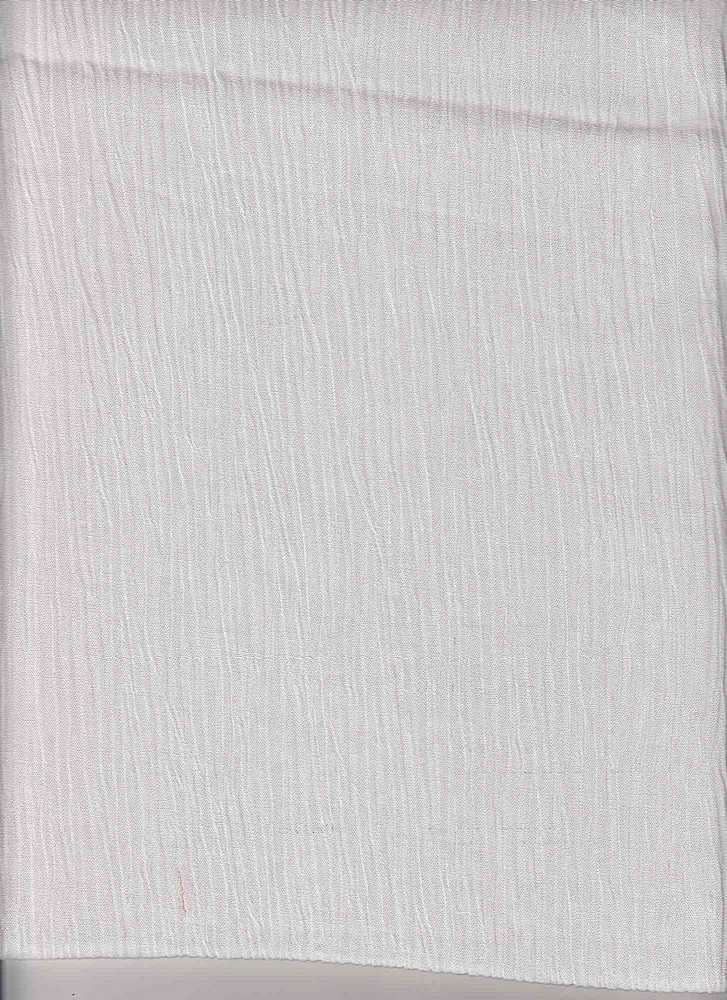 RYN-GAUZE / WHITE / 100% Rayon CRINCLE GAUZE