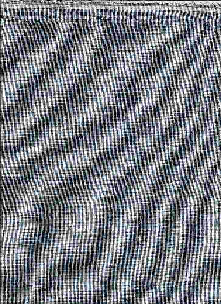 LIN-C-STP-615 / NAVY/WHITE / LINEN COTTON YARN DYE STRIPE 55/45