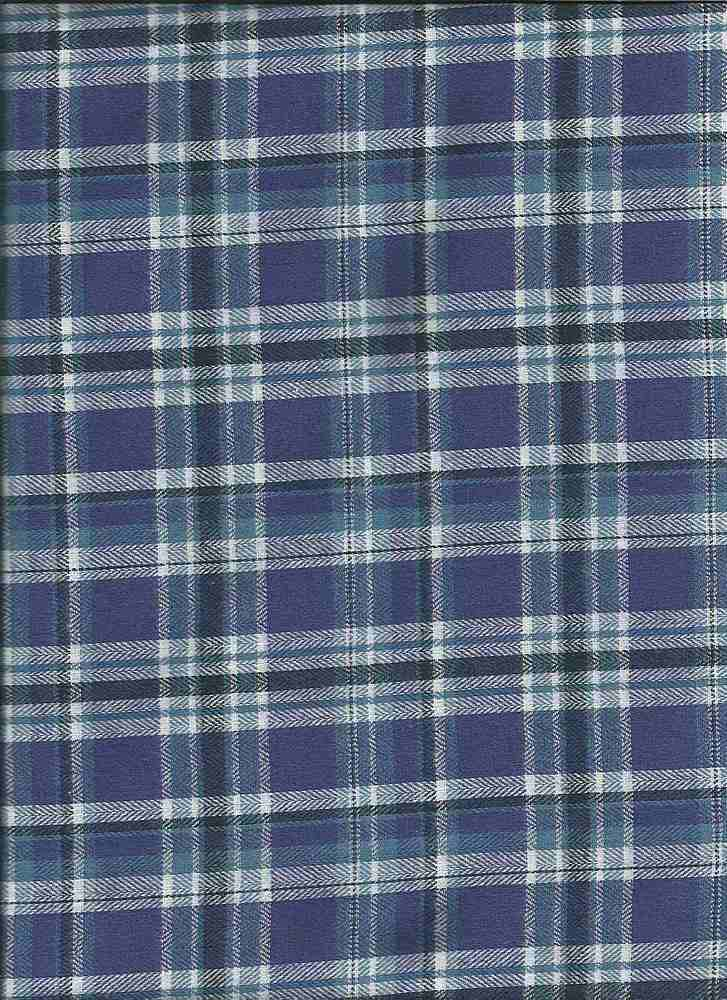 FLN-PLD-57 / ROYAL / 100% COTTON FLANNEL