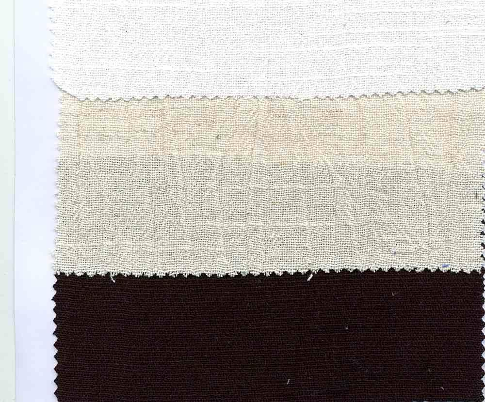 LIN-C-GUZ-2628 / BLACK / LINEN GAUZE [LINEN/COTTON CRINKLED] 80%Cot/20%Lin
