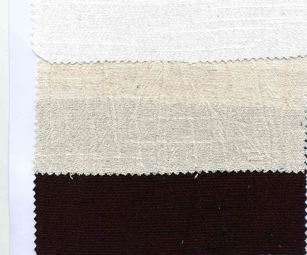 LIN-GUZ-2628 / BLACK / LINEN GAUZE [LINEN/COTTON CRINKLED] 80%Cot/20%Lin