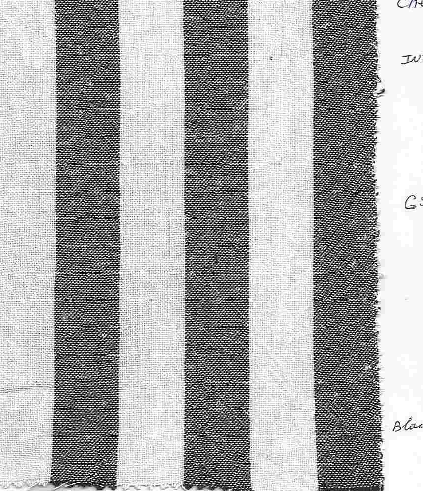 "CHEVRON-STP-1"" / BLACK/WHITE / 100% COTTON CHEVRON  STRIPE"