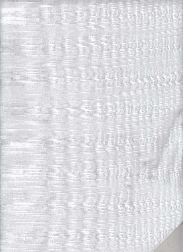DBL-GUZ-SLB-241 / PFD/WHITE / 100% COTTON DOBBY SLUB