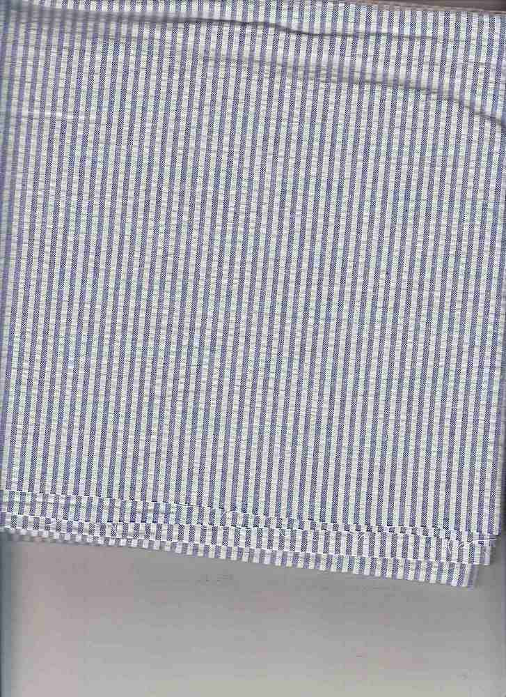 SEERS-STP-1/8 / ROYAL/WHITE / Cotton Spandex Seer Succer Stripe   C/S  98/2