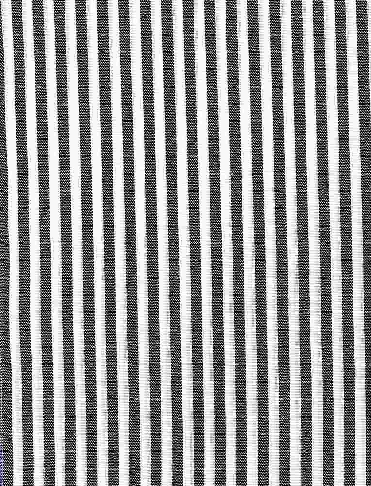 CHAM-STP-267 / BLACK/WHITE / 100% Cotton OXFORD Y/D STRIPE