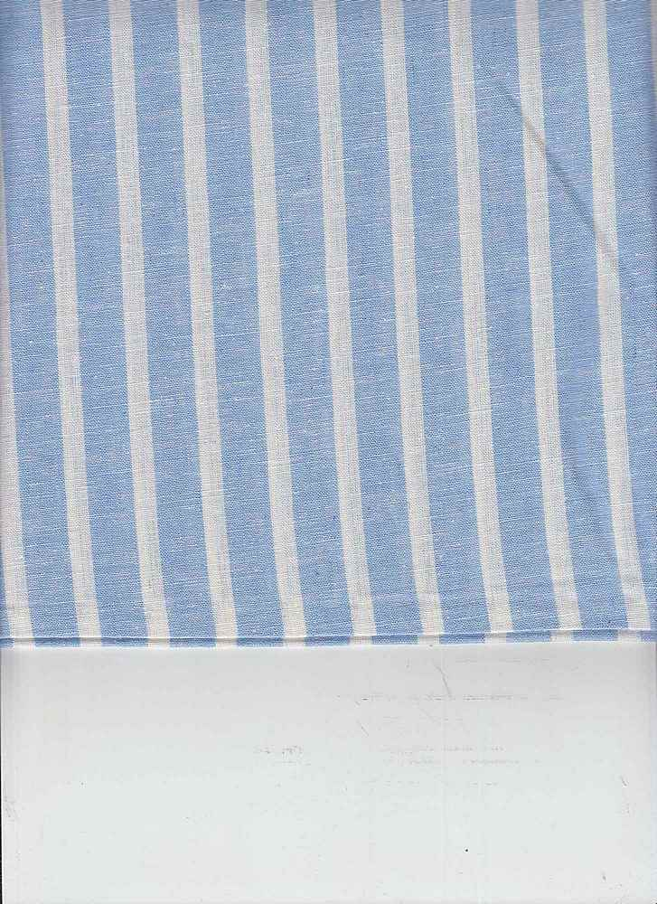 LIN-C-STP-997 / BLUE/WHITE / 55/45 LINEN COTTON Y/D STRIPE