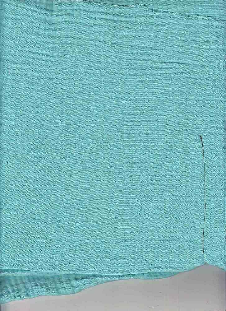 DBL-GUZ-021-H / AQUA-A / 100% COTTON HEAVY GAUZE