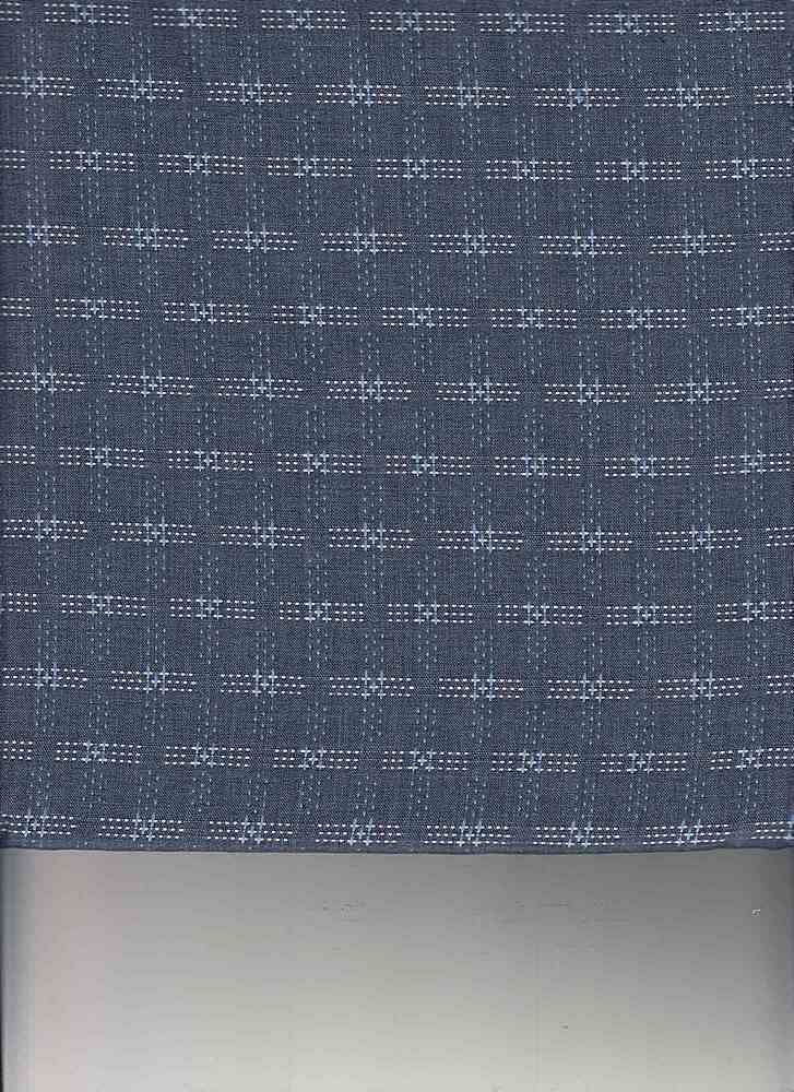 POP-DB-288 / INDIGO / POLY COTTON DOBBY Y/D 65/35