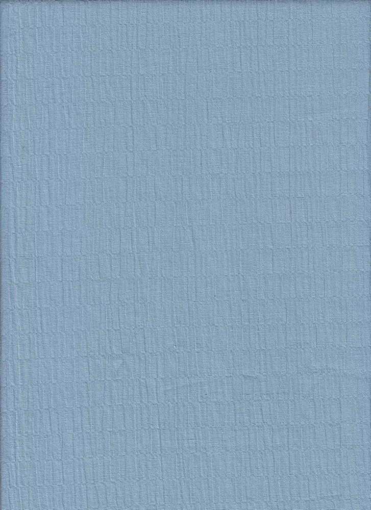 POP-NOV-119 / BLUE / COTTON SPANDEX CRINKLE POPLIN C/S 99/1
