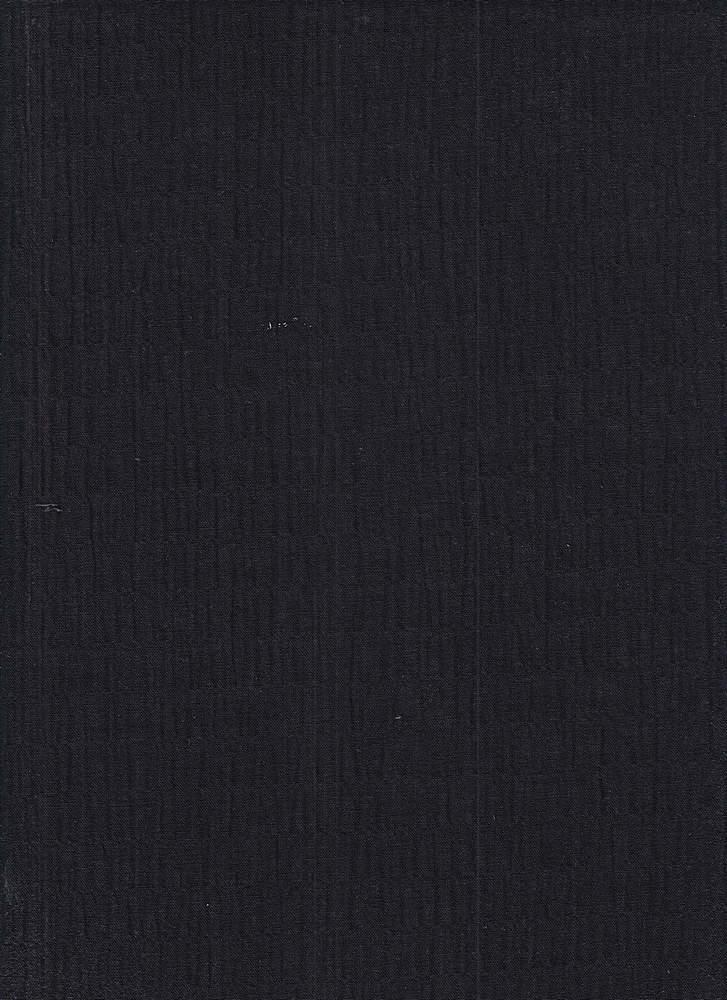 POP-NOV-119 / BLACK / COTTON SPANDEX CRINKLE POPLIN C/S 99/1