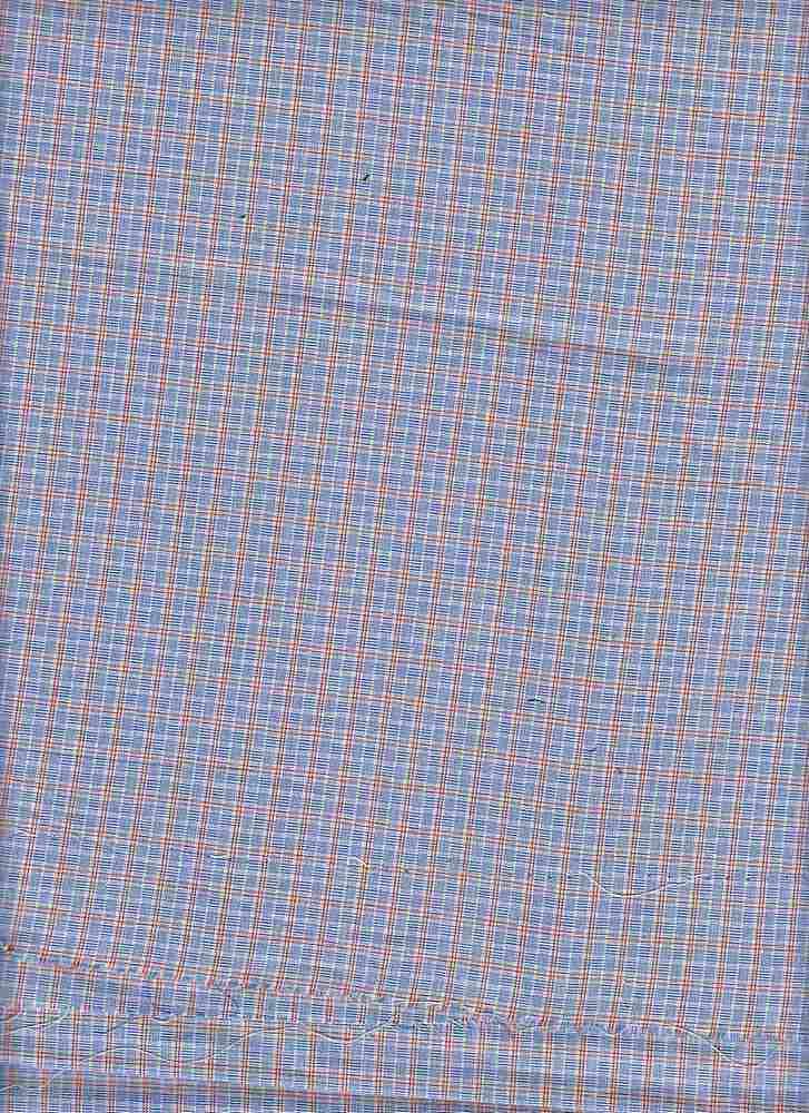 POPS-PLD-79-1 / SKY/RED / STRETCH POPLIN PLD 97/3