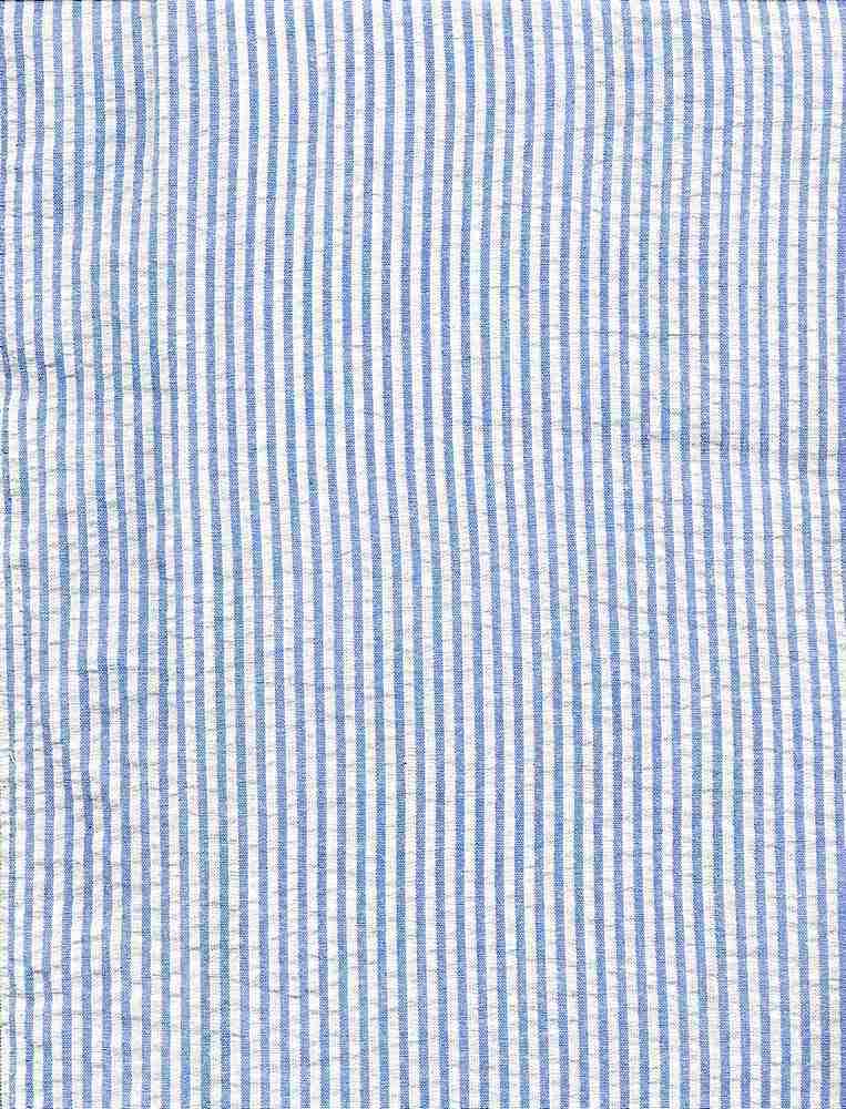 SEERS-STP-1/8 / BLUE / Cotton Spandex Seer Succer Stripe   C/S  98/2