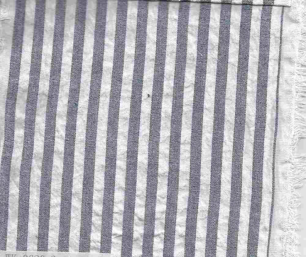 SEERS-STP-1/4 ROYAL/WHITE STRIPE SEERSUCKER
